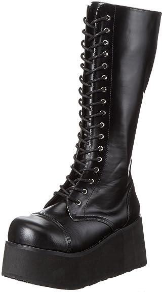Demonia by Pleaser Men's Trashville-502 Lace-Up Boot,Black PU,4
