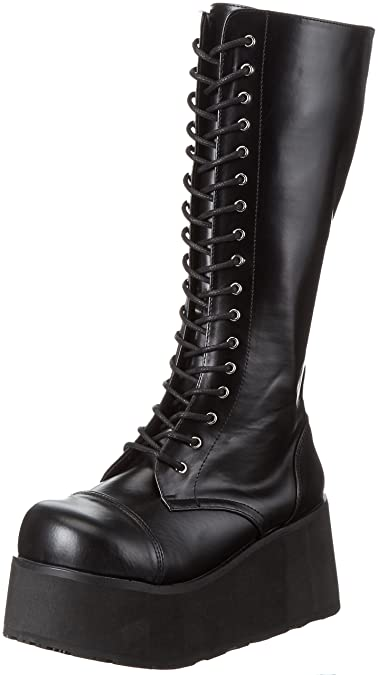 Trashville-502, Mens Cold Lined Calf-Length Boots Demonia