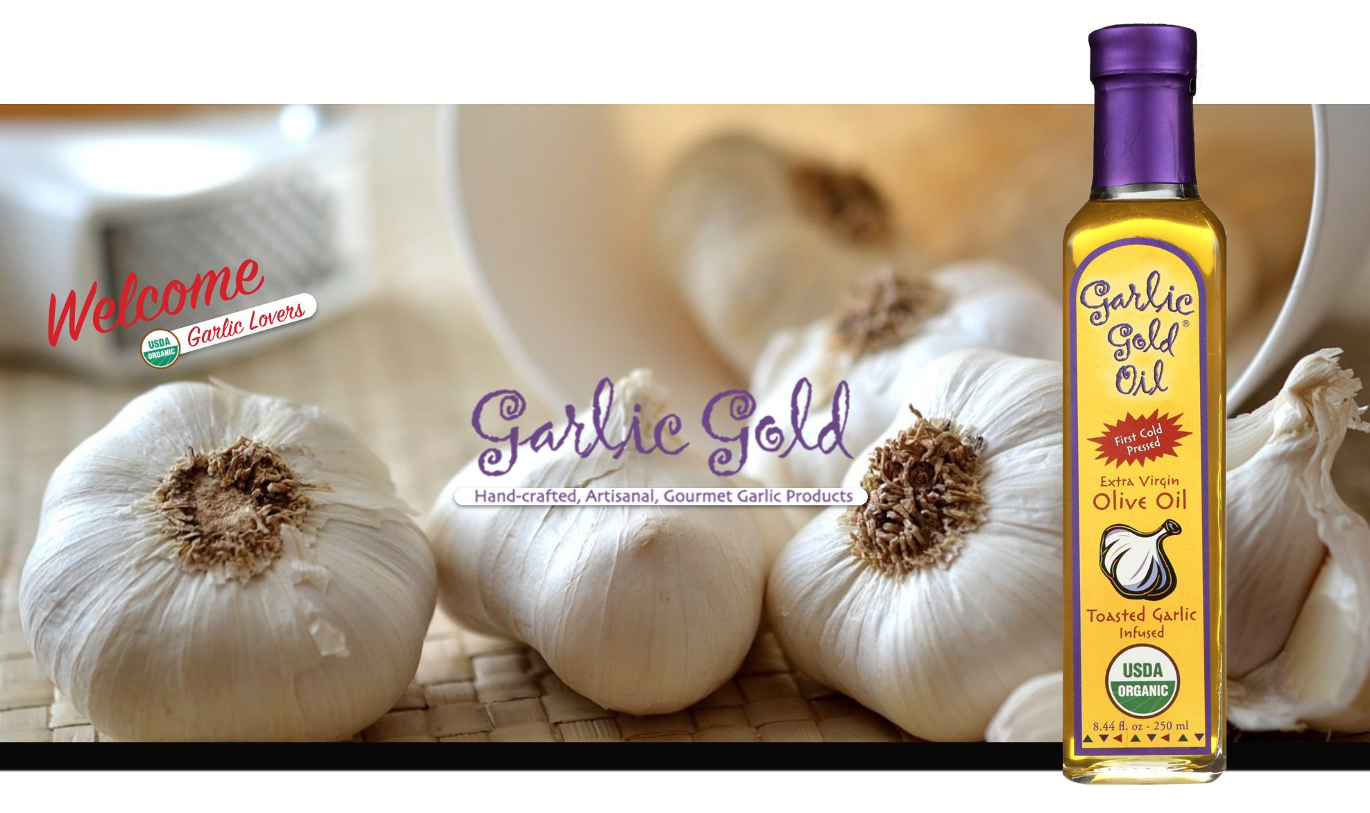 USDA Certified Organic Extra Virgin Olive Oil - Infused with toasted Garlic, Low FODMAP, by Garlic Gold (Pack of 6) by Garlic Gold (Image #7)