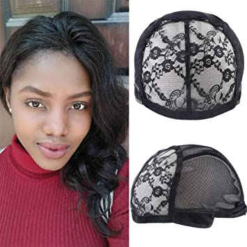 71c15299c19 Image Unavailable. Image not available for. Color  Double Lace Wig Caps For  Making Wigs ...