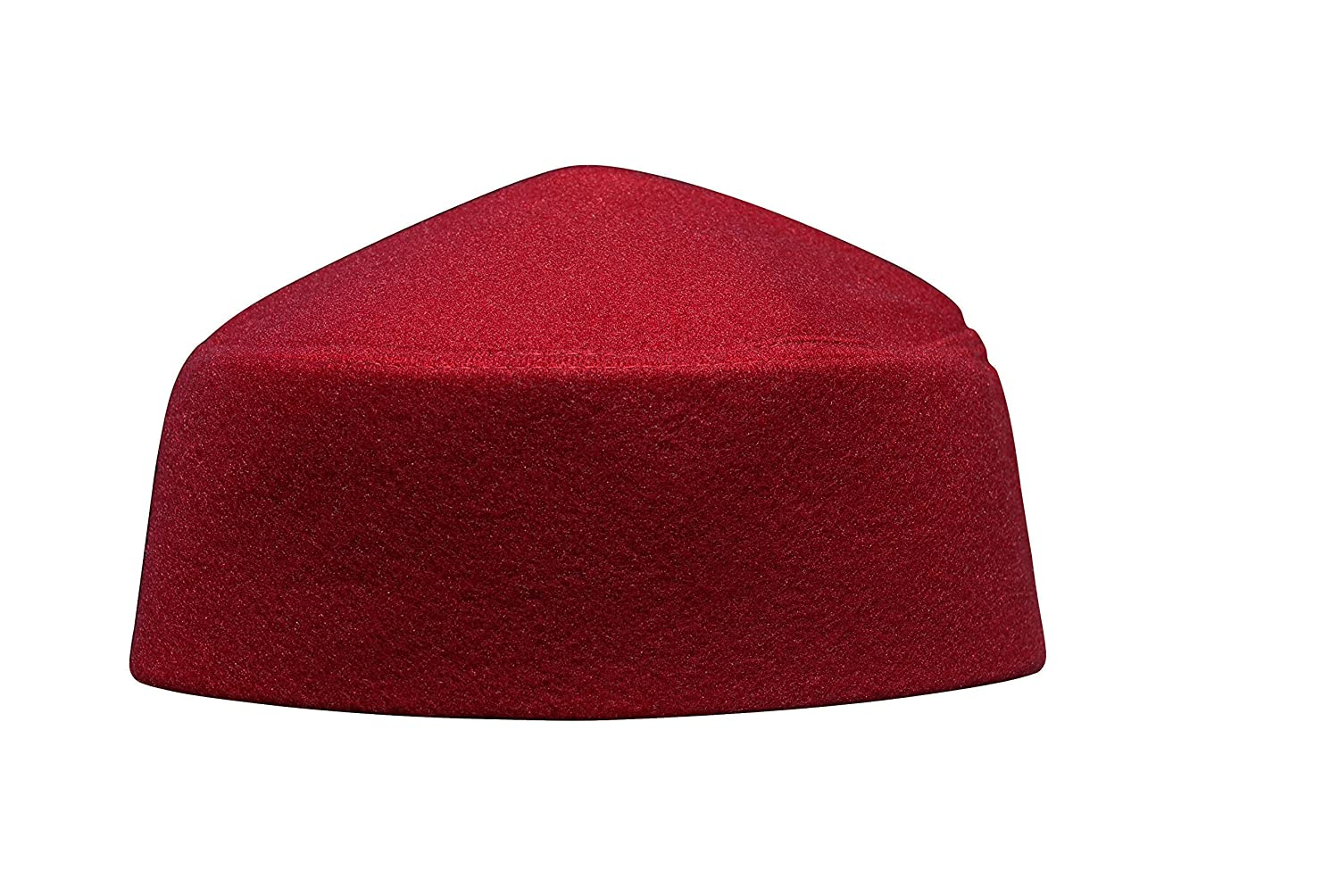 5f574f48e TheKufi Solid Maroon Moroccan Fez-Style Kufi Hat Cap w/Pointed Top ...