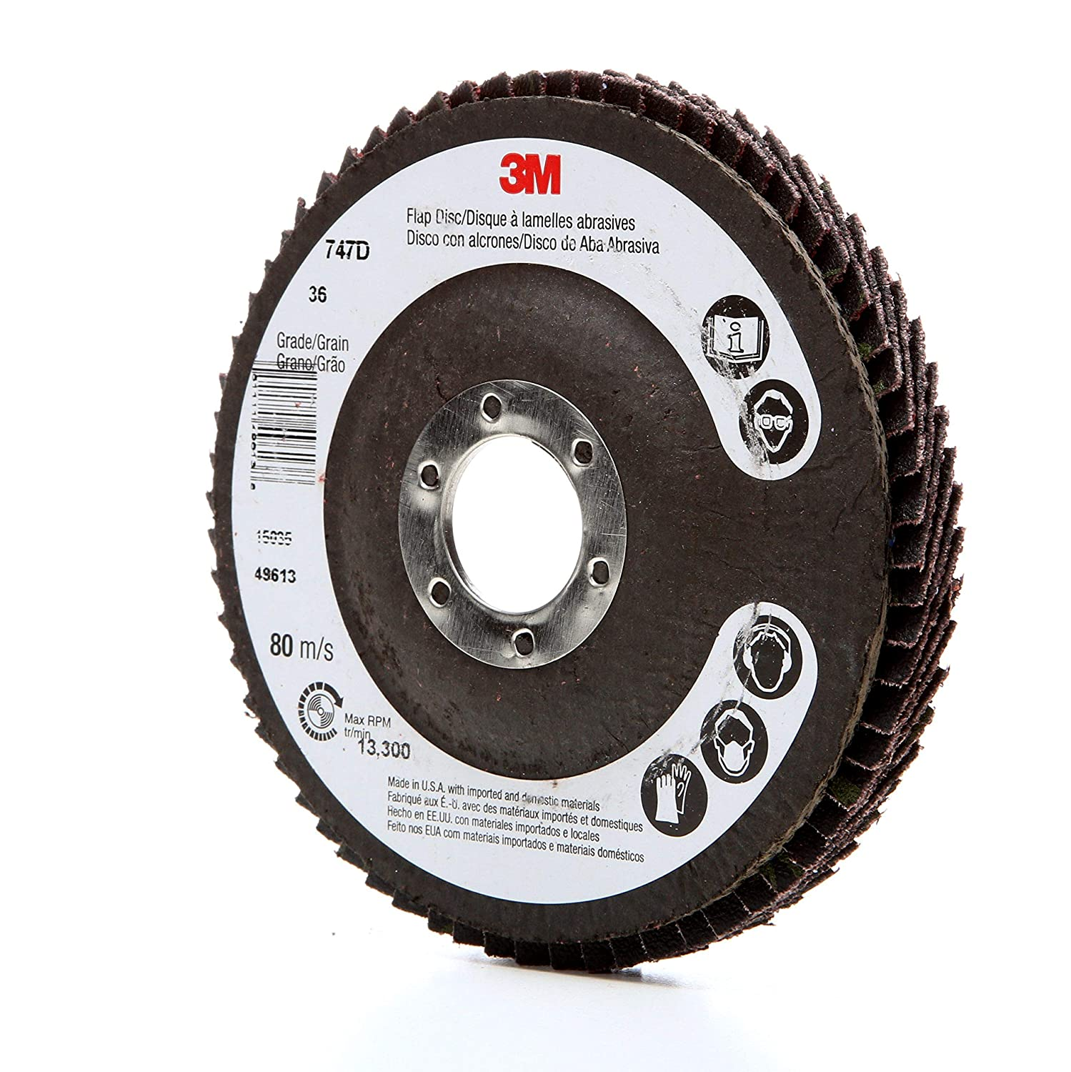 "3M 051111-49611 7/""X7//8/""80 Grit Flap Disc"