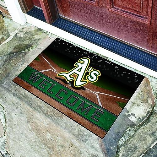 StarSun Depot California Crumb Rubber Door Mat MLB – Oakland Athletics 18 x30