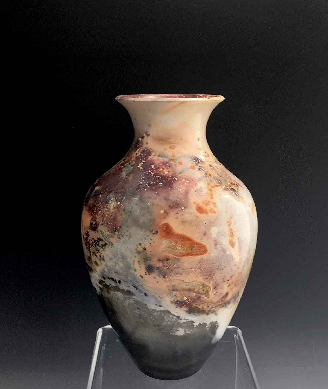 Amazon.com: Handmade Porcelain Ceramic Vase, Pit Fired Raku by Susan  Fontaine Pottery: Handmade - Amazon.com: Handmade Porcelain Ceramic Vase, Pit Fired Raku By Susan