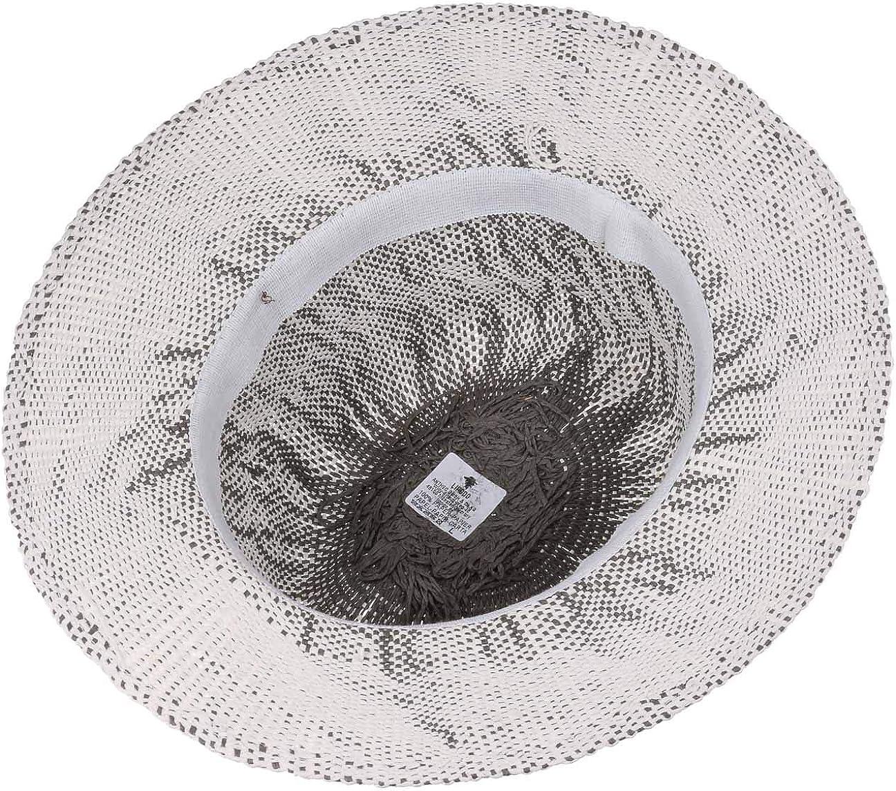 Sonnenhut Vintage Lipodo Harkeyville Twotone Traveller Papierstrohhut Damen//Herren Travellerhut aus Papierstroh Sommerhut meliert Made in Italy Fr/ühjahr//Sommer