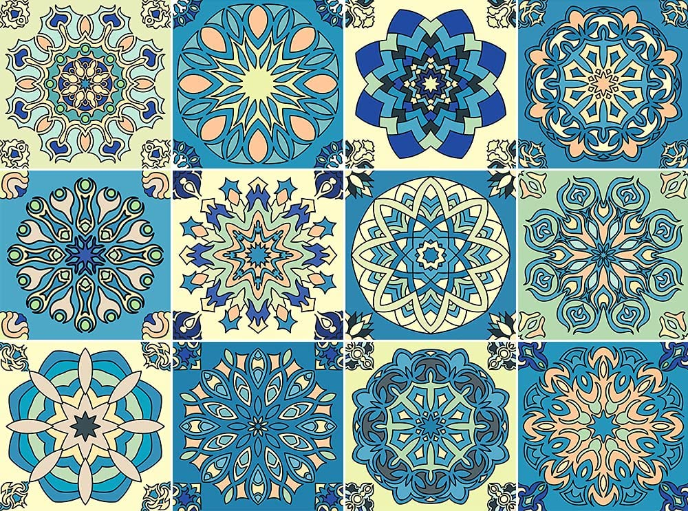 Tile Stickers for Kitchen Bathroom Refrigerator, Furniture Stair backsplash, Door, Table, 12 PC(6X6 inches),Easy to Peel and Stick DIY Home Decor