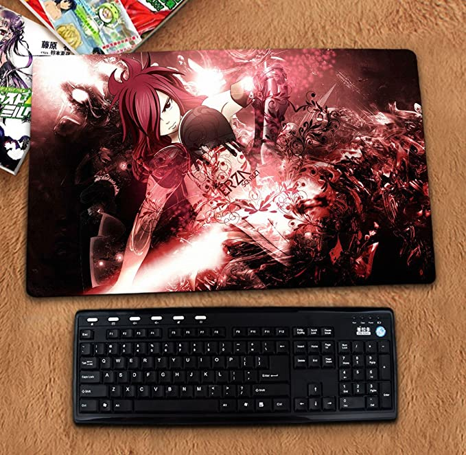 31.5 X 11.8x0.12 3mm Thick Fairy Tail Gaming Or Desk Mousepad - XL Keyboard Desk Mouse Mat for Computer//Laptop Extra Large Mouse Pad