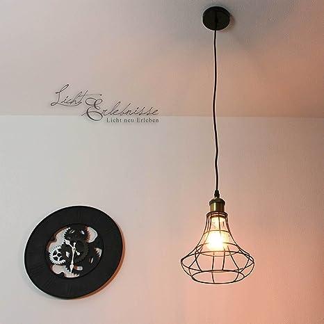 Elegante lámpara de techo en Negro Bronce Vintage estilo e27 ...