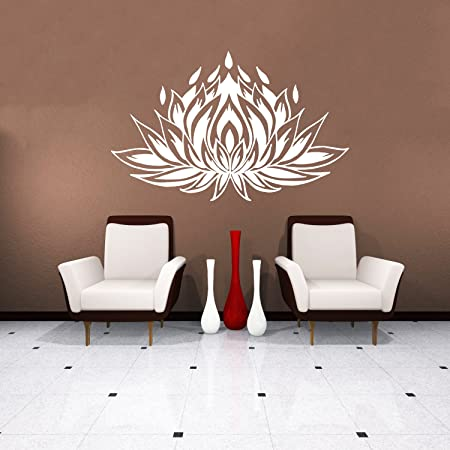 Stickers Muraux Lotus Fleur Autocollant De Vinyle Sticker
