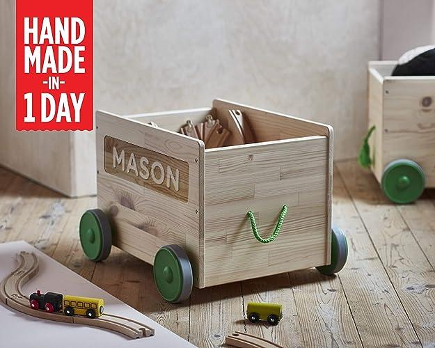 Toy Box Personalized Custom Toybox Nursery Storage Bin Big Chest For Kids Toys Wood Gift Name Customized On