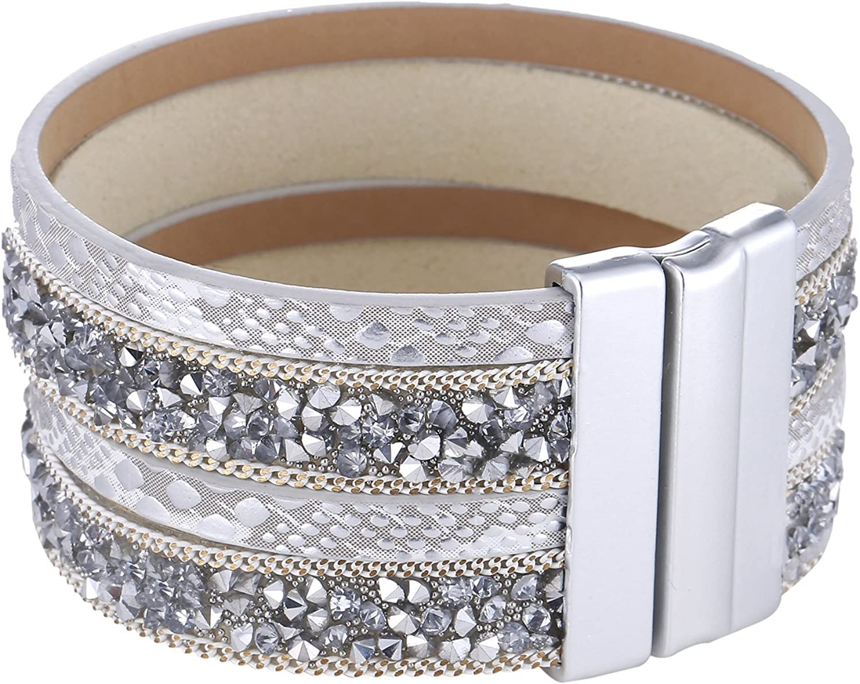 Large avec zircons et Fermeture magn/étique Morella Bracelet pour Femme