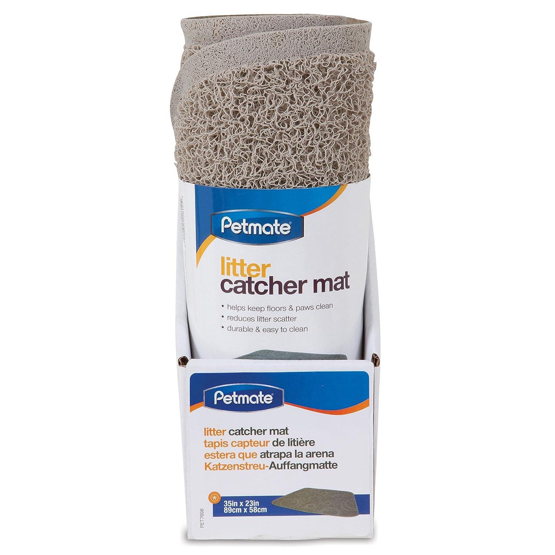 Petmate Wedge Circle Litter Catcher Mat, Stone