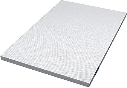 Genius Eazzzy Topper 120 x 200 cm – Cubrecolchón protector de colchón para colchón y cama con somier – Viscoelástica – para alérgicos de espuma de gel ...