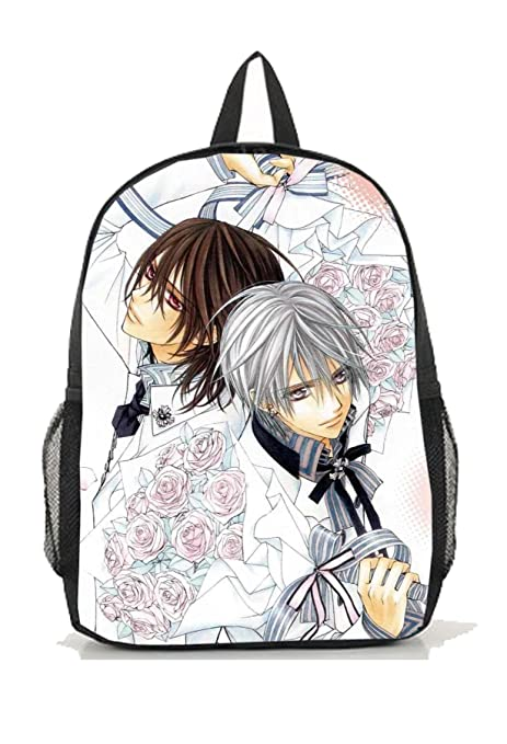 b68d088a1946 Image Unavailable. Image not available for. Color  Dreamcosplay Anime  Vampire Knight Kuran Kaname Logo Backpack Bag Cosplay