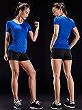 Neleus Women's 3 Pack V Neck Workout Compression