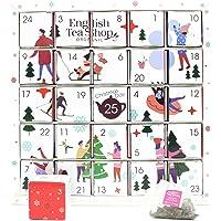 English Tea Shop Biologische Witte Ornamenten Adventskalender Puzzel - 25 Losse Blad Thee Piramide Tassen - 13…