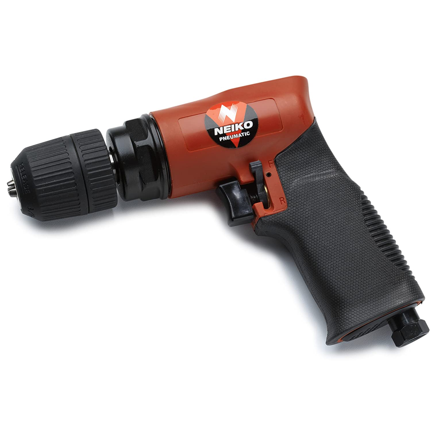 Neiko 30096A 90 psi//1800 RPM 3//8 Composite Reversible Air Drill with Keyless Chuck