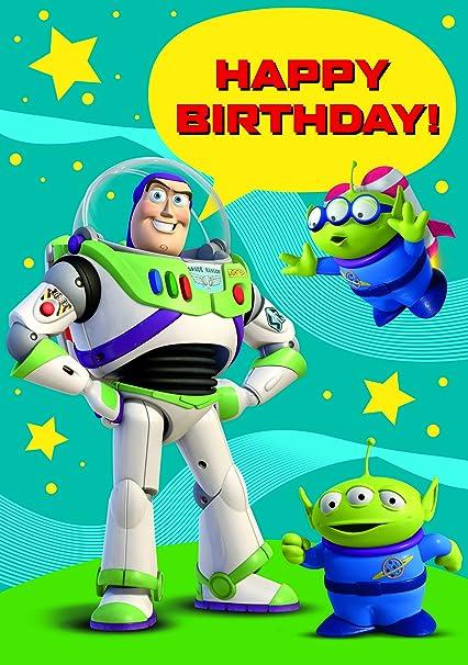 Amazon.com: Toy Story Feliz cumpleaños tarjeta por Pórtico ...