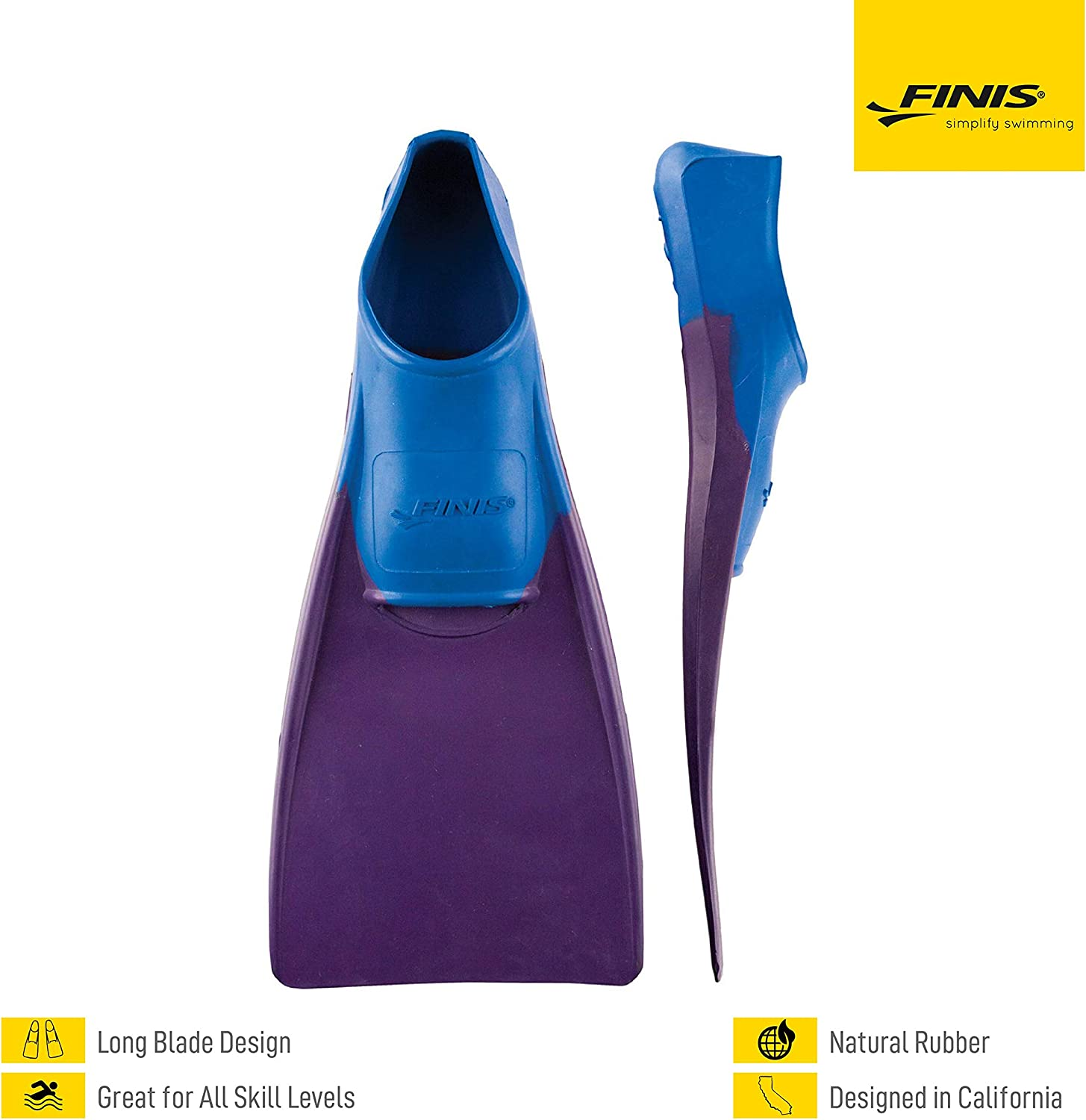 FINIS Long Floating Fins for Swimming and Snorkeling