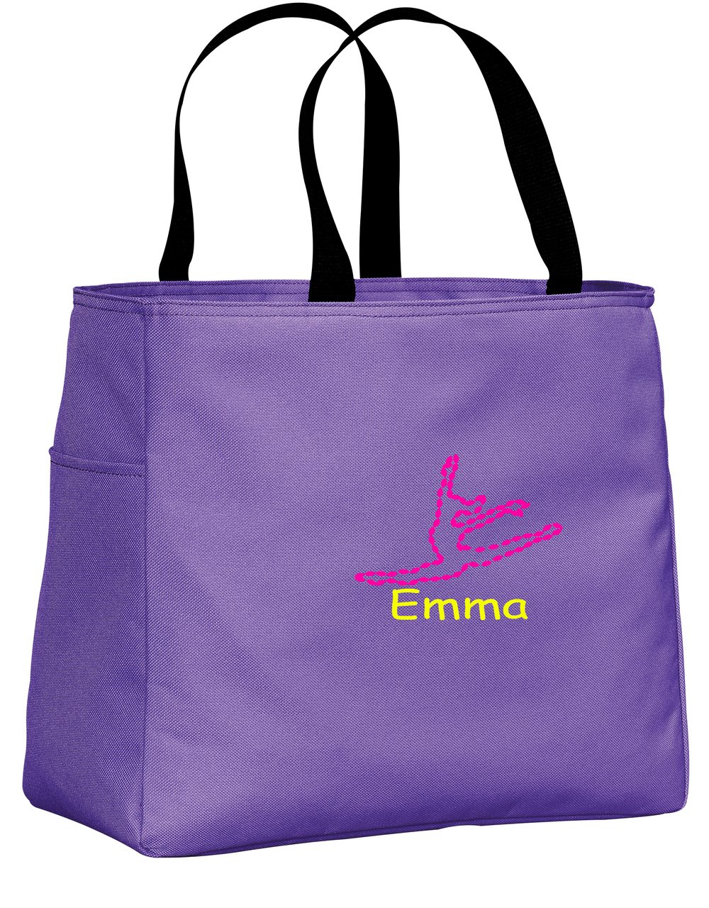 all about me company Personalized Embroidered Dance Sport Essential Tote Bag (Hyacinth) by all about me company