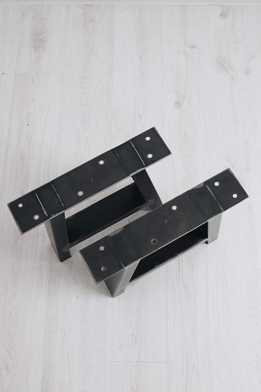 T10cmxB80cmxH72cm, Transparent BestLoft /® A-Kufen Transparent beschichtete Tischkufen A-Form im Industriedesign Tischuntergestell Kufengestell 2 St/ück 1 Paar