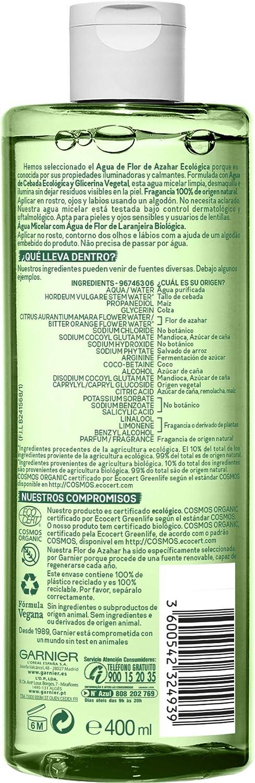 Garnier Bio Agua Micelar con Agua de Flor de Azahar Ecológica ...