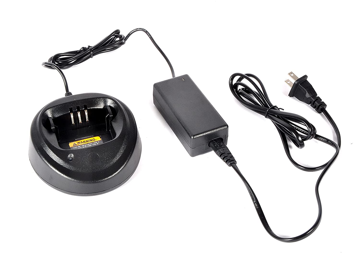 Heyrtz Replacement WPLN4137 PMP4137A Charging Station,Two-Way Radio Rapid Battery Charger Base with 100V-240V Power Adapter for Motorola CP040 CP140 CP150 CP160 CP180 CP200 EP450 PR400 Walkie Talkies BC-CP150