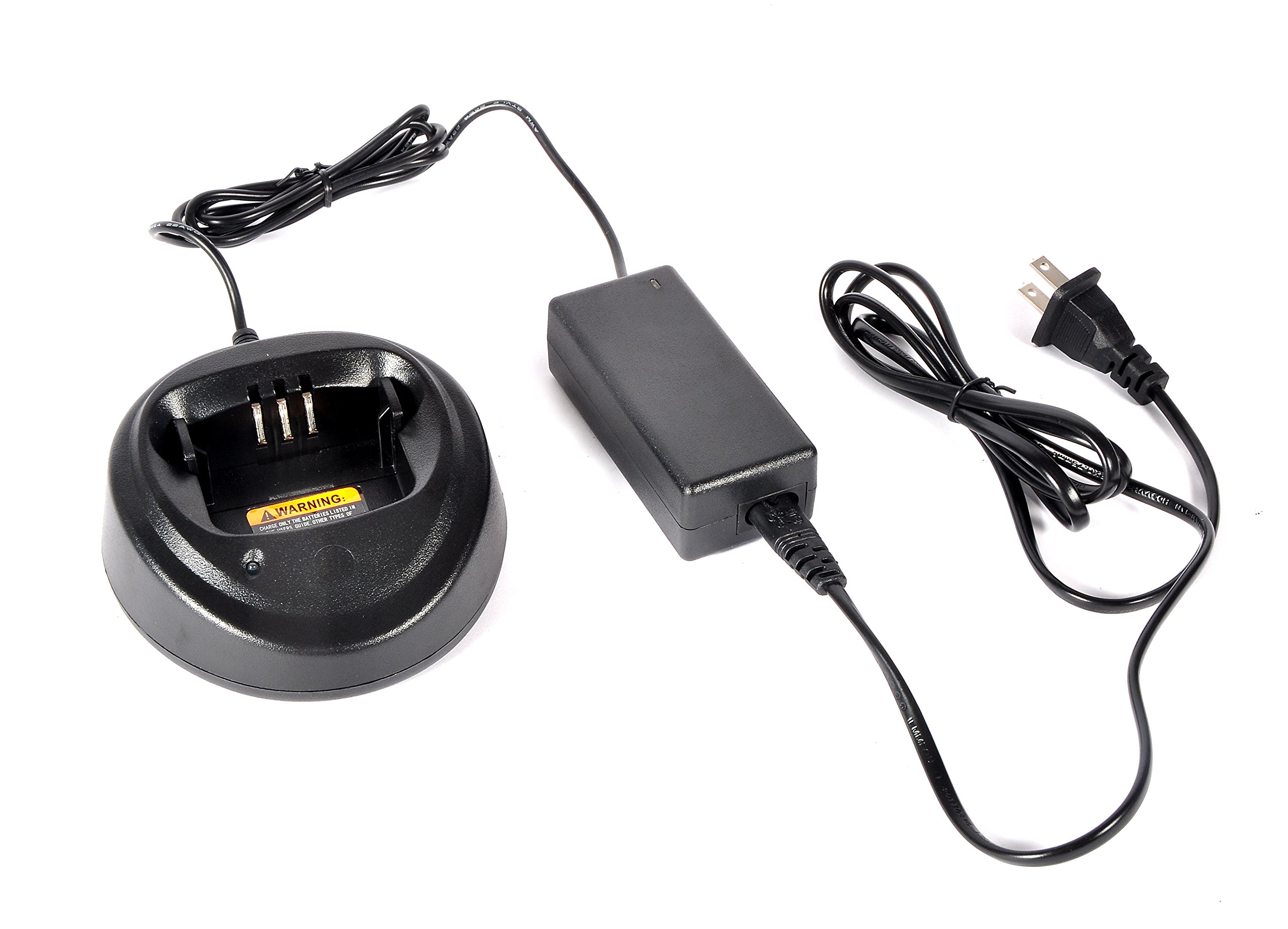 Heyrtz Replacement WPLN4137 PMP4137A Charging Station,Two-Way Radio Rapid Battery Charger Base with 100V-240V Power Adapter for Motorola CP040 CP140 CP150 CP160 CP180 CP200 EP450 PR400 Walkie Talkies