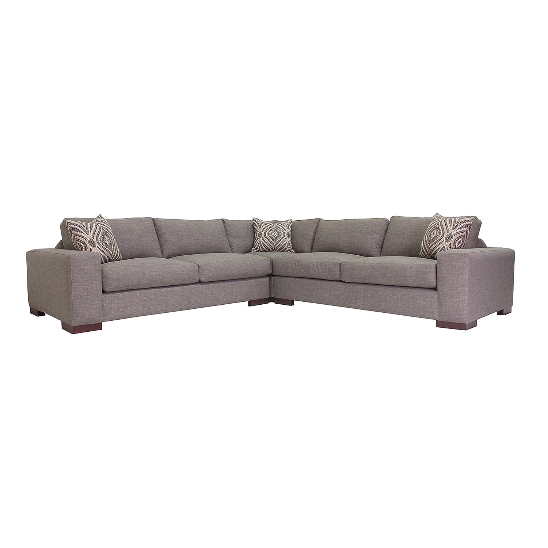 Amazon.com: poshbin Wilson Seccional sofá moderno con plumas ...