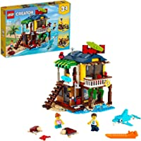 LEGO 31118 Creator 3 in 1 Surfer Strandhuis, Vuurtoren en Zomerhuois met Zwembat Bouwset