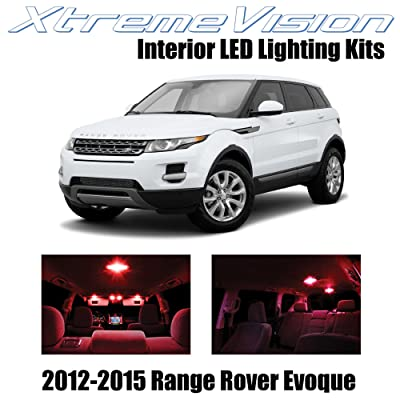 Xtremevision Interior LED for Land Rover Range Rover Evoque SUV 2012-2015 (9 Pieces) Red Interior LED Kit + Installation Tool: Automotive