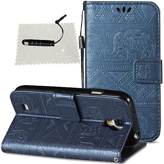 Hülle für Galaxy S4 Leder, SchutzHülle Brieftasche Wallet Flip für Samsung Galaxy S4, TOCASO Case Glitter Strass SchutzHülle