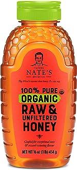 Nature Nate's 100% Pure Organic, Raw & Unfiltered Honey, 16 oz.