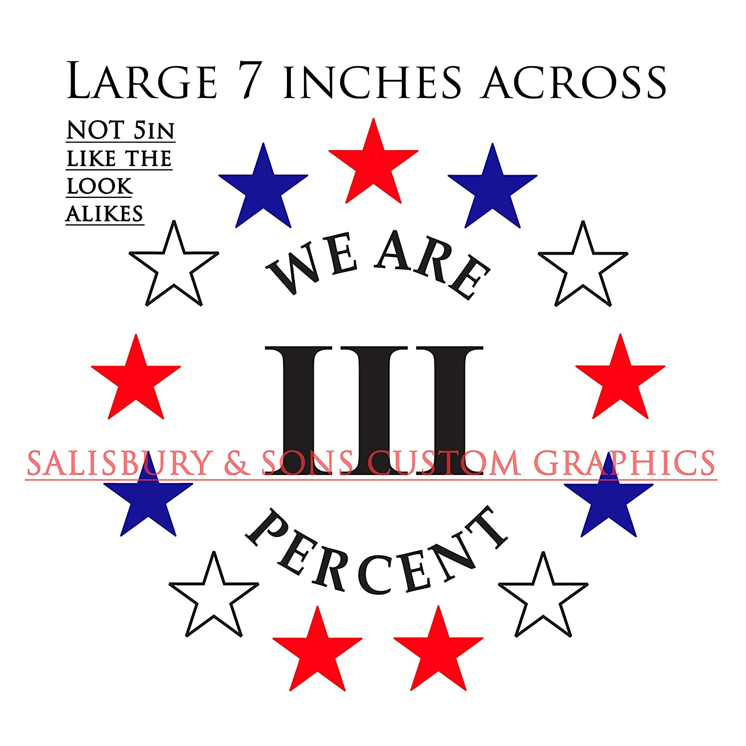 3/% Tattered Flag Land of the Three Stars Right 1776 Molon Labe Sticker