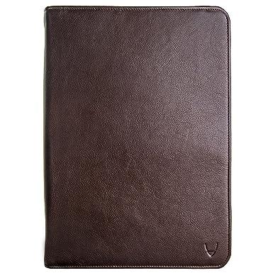 Hidesign Cartera/Cartera portadocumentos de piel IMG iPad con cuaderno de papel hecho a mano, color marrón Medium: Amazon.es: Oficina y papelería