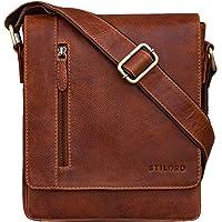 STILORD 'Easton' Vintage Bolso de Mensajero de Cuero para Hombre Mujer Bolsa Bandolera o de Hombro para Tablet de 10,1…
