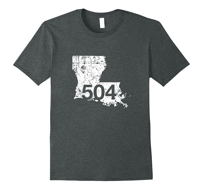 New Orleans Marrero Area Code 504 Shirt Louisiana Gift-PL