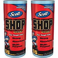"Logistics Supply 75130KC Scott Shop Toallas Azul 7/16"" X, 55 Toallas, 2 unidades"