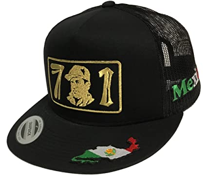 4bd85902869 Image Unavailable. Image not available for. Color  El chapo 701 3 Logos Hat  Black Mesh Snapback