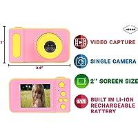Jicson J98 Kids Digital Camera Mini 2 Inch Screen Children Camera 1080 HD Digital Camera Toys Camera for Girls Birthday Gift- Pink…