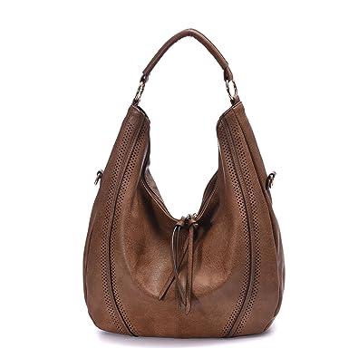 amazon com women hobo bags oversized leather handbags pu crossbody
