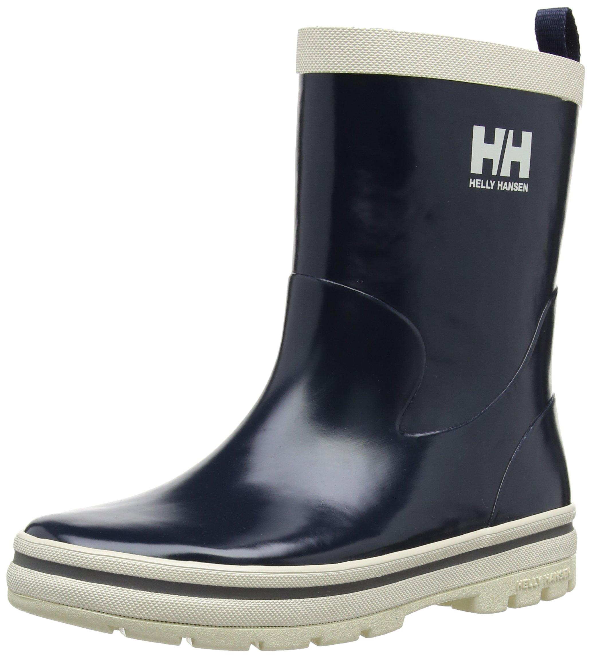 Helly Hansen JK Midsund Rain Boot (Toddler/Little Kid/Big Kid), Navy/Off White/Silver, 13 M US Little Kid