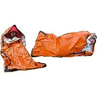 SE EB122OR-2 Emergency Sleeping Bag with Drawstring Carrying Bag (2 Pack), Orange