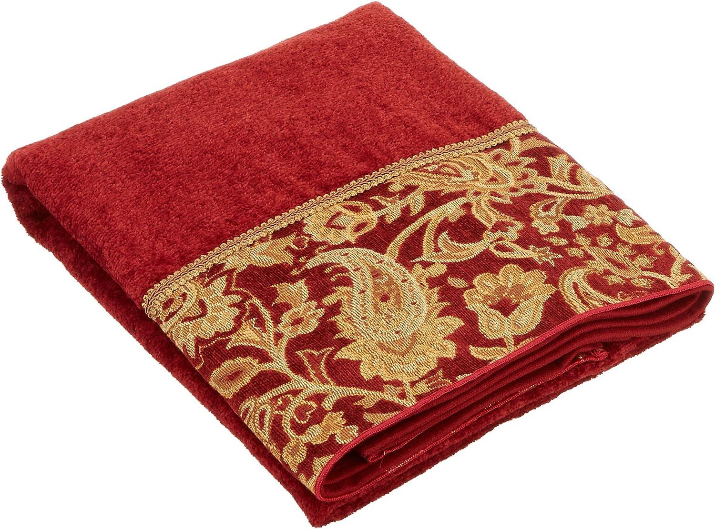 Avanti Linens Arabesque Embellished 4-Piece Decorative Towel Set Brick