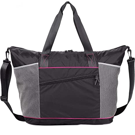 91a2a71d8350 AMOLAR Gym Tote Bag for Women with Rommy Pockets-Best Tote Bag for Yoga