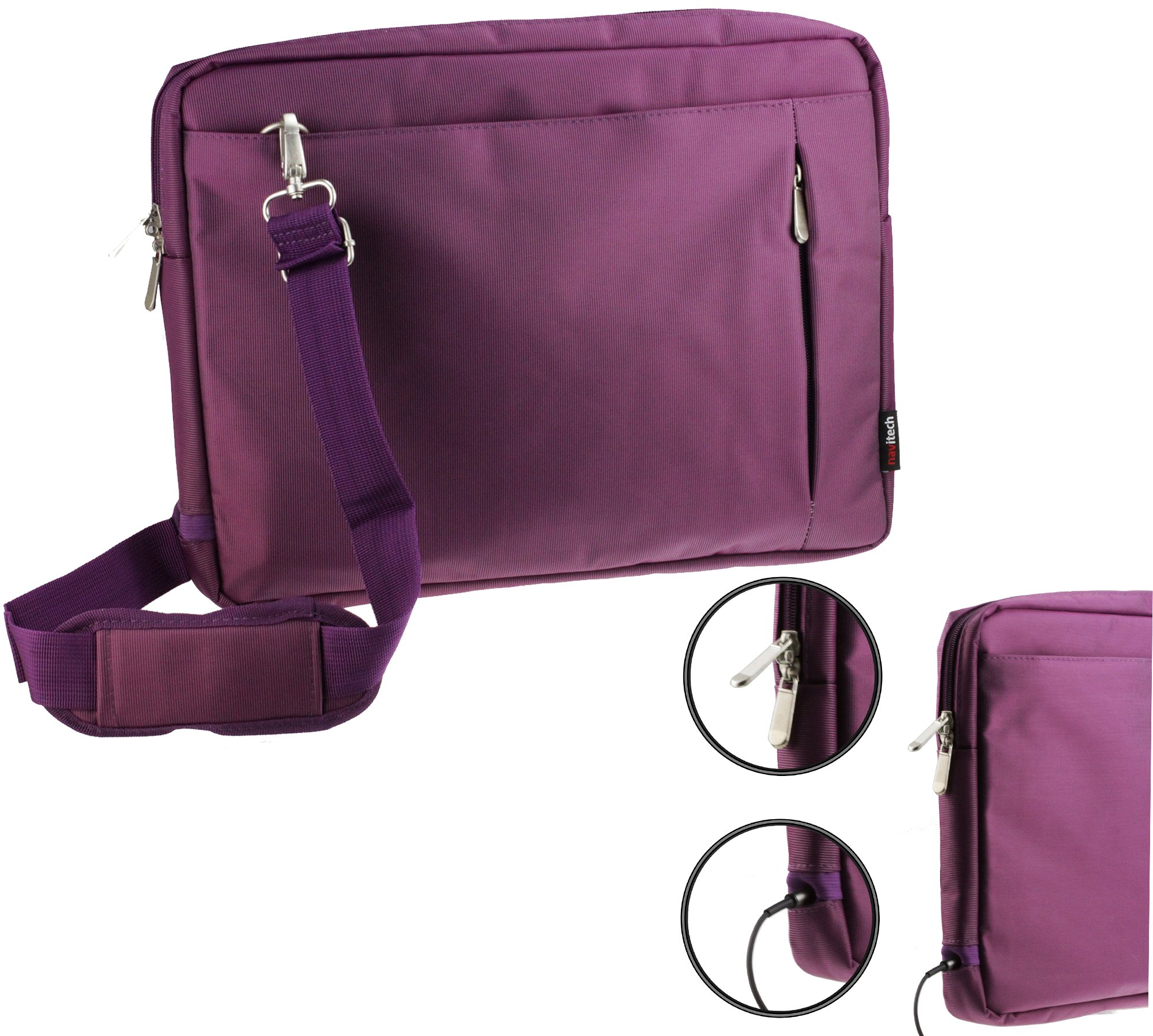 Navitech Purple Carry Case / Cover Bag For Portable dvd players Including the Sylvania SDVD1030-B 10-Inch