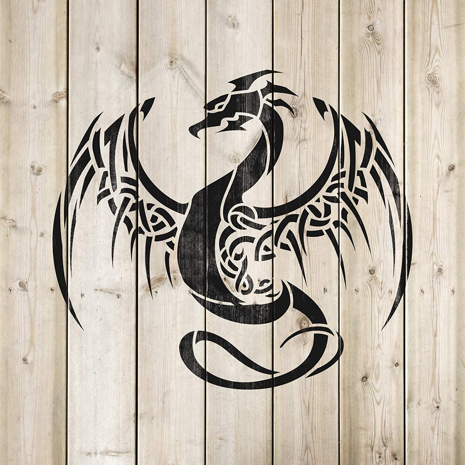 Dragon 1 Large size Reusable Stencil for Airbrush