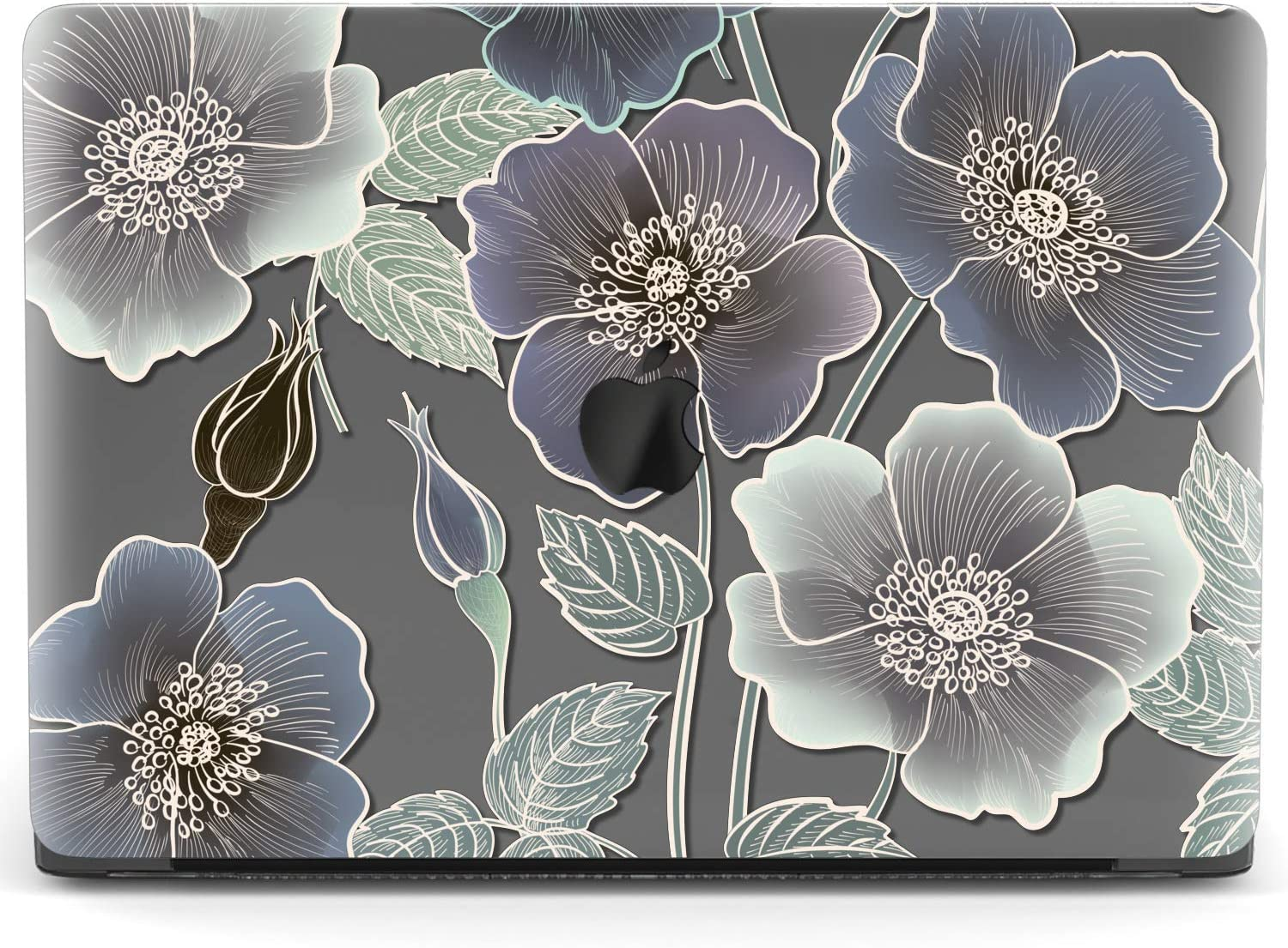Mertak Hard Case Compatible with MacBook Pro 16 Air 13 inch Mac 15 Retina 12 11 2020 2019 2018 2017 Flowers Floral Aesthetic Clear Roses Laptop Print Petals Protective Abstract Plastic Touch Bar