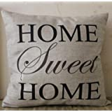 """CoolDream Home Sweet Home Square Pillow Cover Cushion Case Toss Pillowcase(18"""" x 18"""")"""
