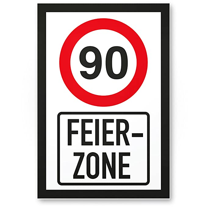DankeDir!. 90 años Fiesta Zona, plástico Cartel - 90 ...